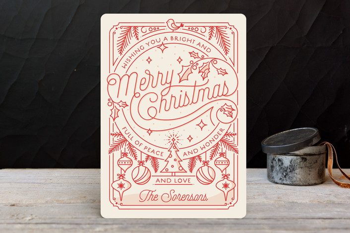 Minted Merry Little Lines Holiday